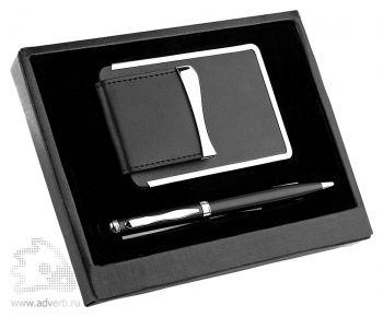 Набор: визитница, ручка «Мехико», черный