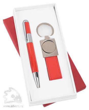 Набор: ручка, брелок «Экрю», красный