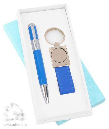 Набор: ручка, брелок «Экрю», синий
