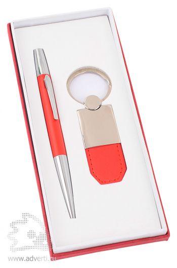 Набор: ручка, брелок «Калипсо», красный