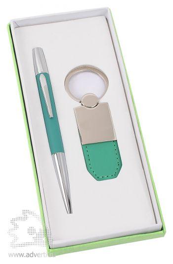 Набор: ручка, брелок «Калипсо», светло-зеленый
