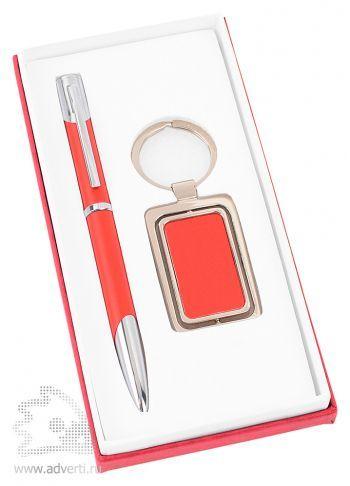 Набор: ручка, брелок «Эстель», красная