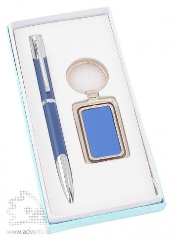 Набор: ручка, брелок «Эстель», синий