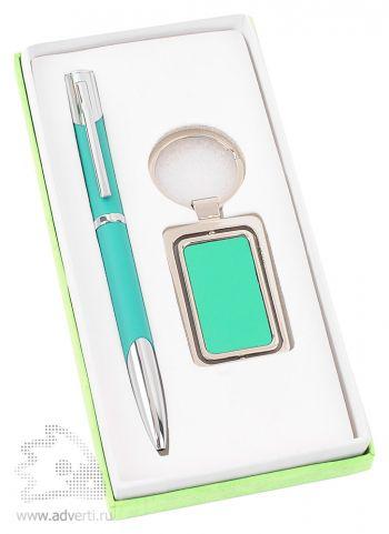 Набор: ручка, брелок «Эстель», светло-зеленый