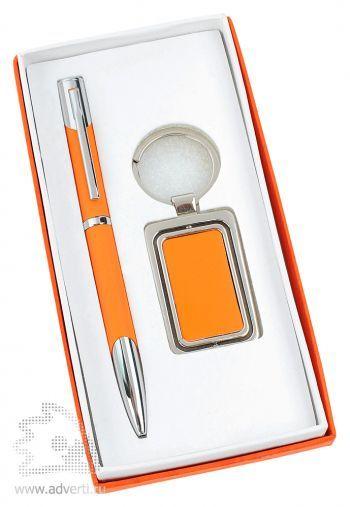 Набор: ручка, брелок «Эстель», оранжевая