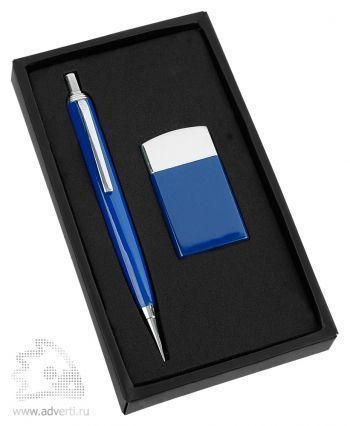 Набор: ручка, зажигалка «Логистик», синий