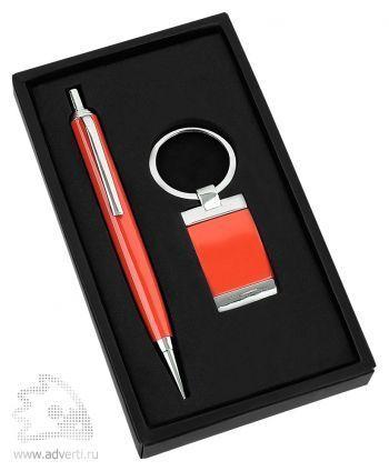 Набор: ручка, брелок «Эспот», красный