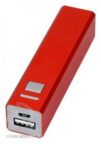 Портативное зарядное устройство, 3000 mAh, красное
