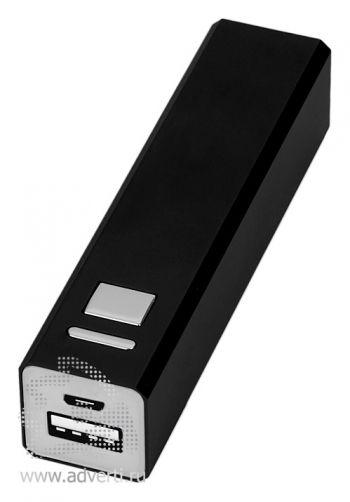 Портативное зарядное устройство, 3000 mAh, черное