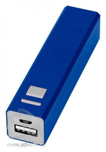 Портативное зарядное устройство, 3000 mAh, синее
