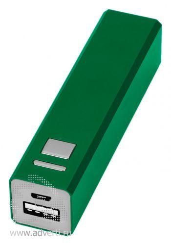 Портативное зарядное устройство, 3000 mAh, зеленое