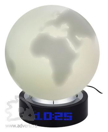 Лампа настольная с часами «В лунном свете»,  влюченная