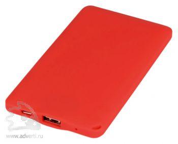 Портативное зарядное устройство «Фелиция», красное