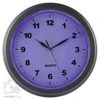 Часы настенные «Паламос» с подсветкой - пример подсветки