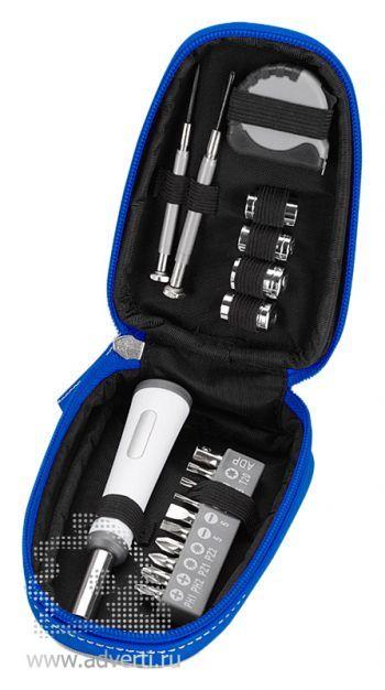 Набор инструментов «Джаспер», синий, открытый