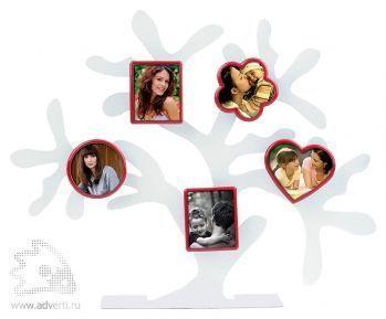 Набор фоторамок «Дерево счастья», красные формы