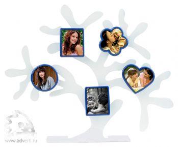 Набор фоторамок «Дерево счастья», синие формы