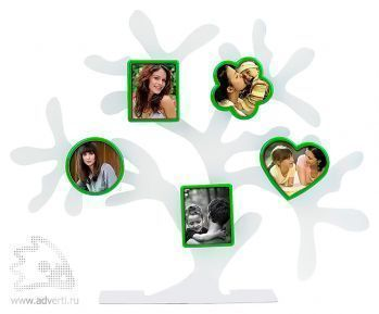 Набор фоторамок «Дерево счастья», зеленые формы