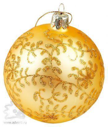 Золотой ёлочный шар в подарочной коробке,шар