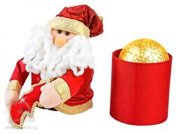 Золотой ёлочный шар в подарочной коробке