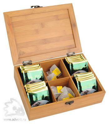 Коробка для чая «Чайная церемония», открытая