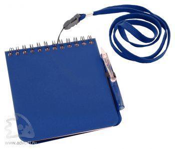 Блокнот с ручкой «Журналист», синий