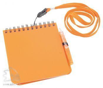 Блокнот с ручкой «Журналист», оранжевый