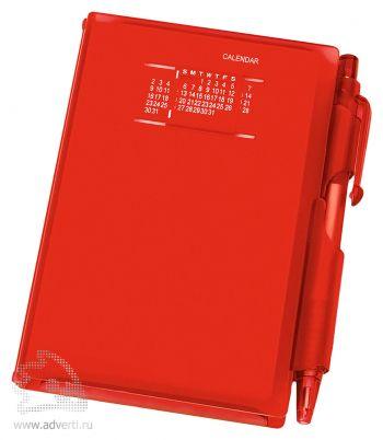 Записная книжка с ручкой «Альманах», красная