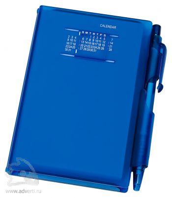 Записная книжка с ручкой «Альманах», синяя