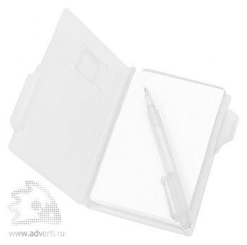 Записная книжка с ручкой «Альманах», открытая