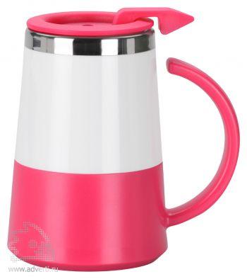 Кружка с термоизоляцией «Маккиато», розовая