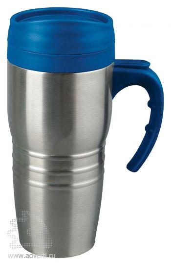Кружка с термоизоляцией «Рондо», синяя