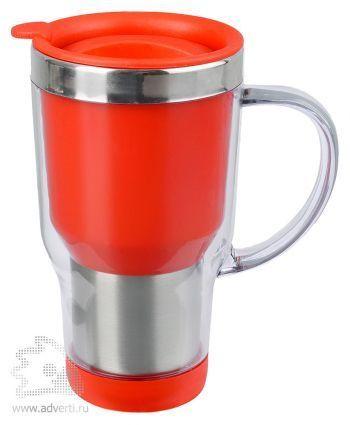 Кружка с термоизоляцией «Баль», красная