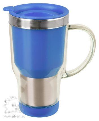 Кружка с термоизоляцией «Баль», синяя