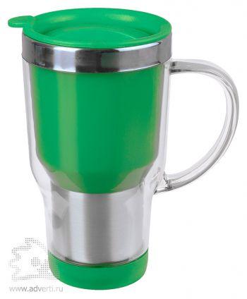 Кружка с термоизоляцией «Баль», зеленая