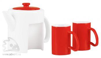 Набор «Триптих»: чайник, 2 чашки, общй вид