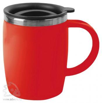 Кружка с термоизоляцией «Brew», красная
