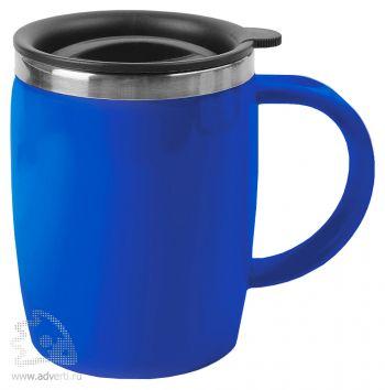 Кружка с термоизоляцией «Brew», синяя