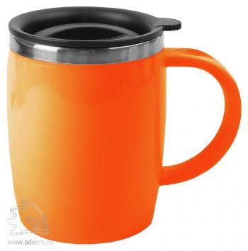 Кружка с термоизоляцией «Brew», оранжевая