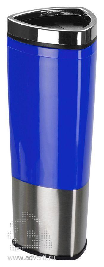 Стакан с термоизоляцией «Пиренеи», синий