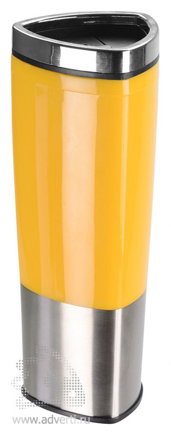 Стакан с термоизоляцией «Пиренеи», желтый