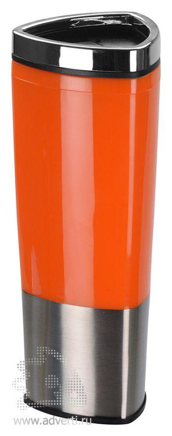 Стакан с термоизоляцией «Пиренеи», оранжевый