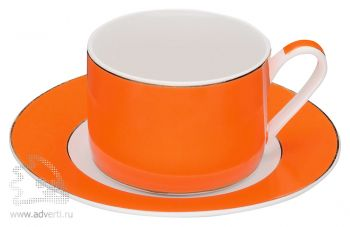 Чайная пара «Риом», оранжевая
