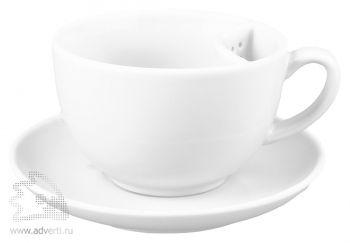 Чайная пара «Сиеста» с отделением для чайного пакетика, белая