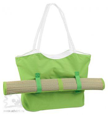 Пляжный набор «Фуджейра»: пляжная сумка и циновка, зеленый