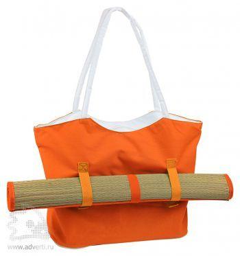 Пляжный набор «Фуджейра»: пляжная сумка и циновка, оранжевый