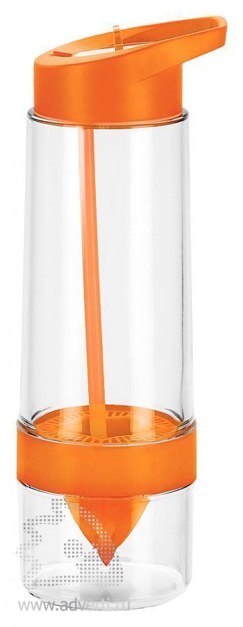 Бутылка для воды «Фреш», оранжевая