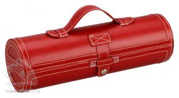 Подарочный набор «Сапфир» для чистки обуви, красный
