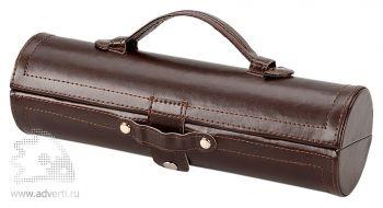 Подарочный набор «Сапфир» для чистки обуви, коричневый
