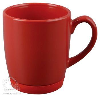 Кружка «Ирвинг» с силиконовой подставкой, красная